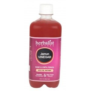 Buy Herbalist Jamun Vinegar, Raw, Unprocessed And Unrefined With Mother Vinegar - Nykaa