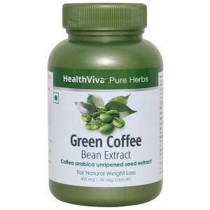 Buy HealthViva Pure Herbs Green Coffee Extract 60 Capsules - Nykaa