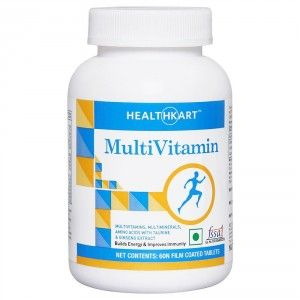 Buy HealthKart MultiVitamin General Unflavoured 60 Tablets - Nykaa