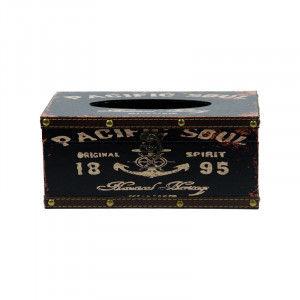 Buy Bag Of Small Things Retro Tissue Box - Pacific Soul Black - Nykaa