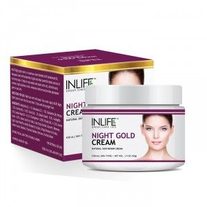 Buy INLIFE Natural Night Gold Cream, 50gm, Skin Whitening, Anti aging for Men, Women - Nykaa