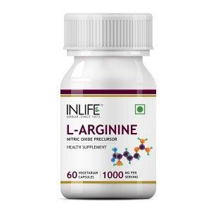 Buy INLIFE L-Arginine 1000mg (60 Veg. Capsules) - Nykaa