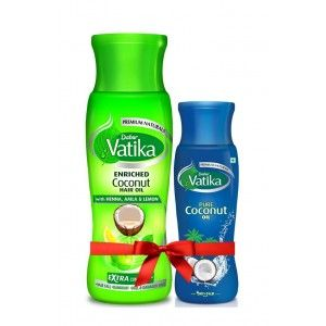 Buy Dabur Vatika Enriched Coconut Hair Oil With Free Vatika Pure Coconut Hair Oil - Nykaa