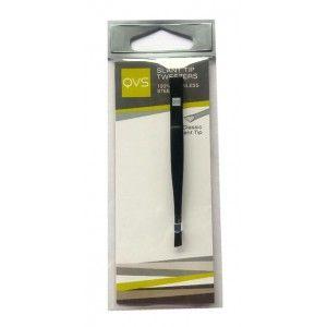 Buy QVS Mini Slant Tip Tweezers (Brushed) - Nykaa