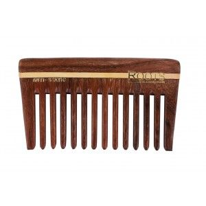 Buy Roots Rosewood Wide Teeth Travel Comb for Wavy/Curly Long Hair with Handle - 2107 - Nykaa