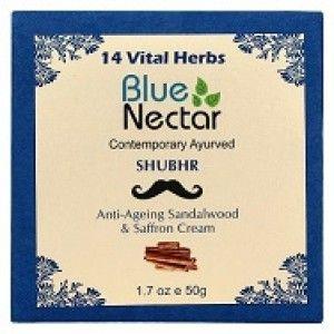 Buy Blue Nectar Anti Ageing Sandalwood & Saffron Face Cream For Men - Nykaa