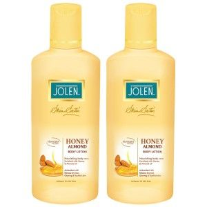 Buy Jolen Honey & Almond Lotion Twin Pack (25% Extra) - Nykaa