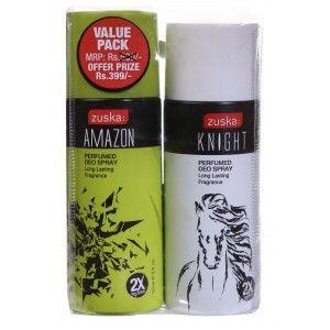 Buy Zuska Perfumed Deo Spray Value Pack - Amazon and Knight(Rs.101 OFF) - Nykaa