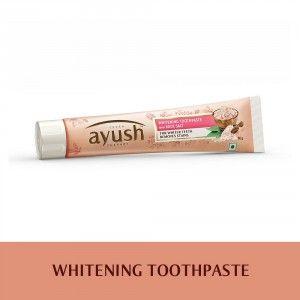 Buy Lever Ayush Whitening Rock Salt Toothpaste - Nykaa