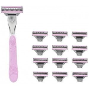 Buy WayToShave One For The Ladies 3 Blade Razor (Pack Of 12 Cartridges + 1 Razor Handle) - Nykaa