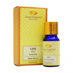 Buy Aura Essence Pure Lime Essential Oil - Nykaa