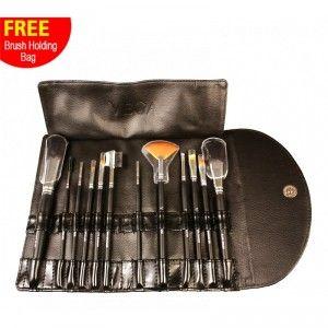 Buy Vega LK-12 Set Of 12 Brush With Brush Holding Bag - Nykaa