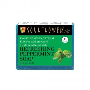 Buy Soulflower Refreshing Peppermint Soap - Nykaa