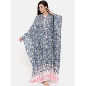 Buy The Kaftan Company Vintage Paisleys Kaftan With Dori - Multi-Color  - Nykaa