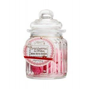 Buy Patisserie de Bain Cranberries & Cream Mini Bath Bombs Sweetie Jar  - Nykaa