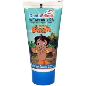 Buy DentoShine Chhota Bheem Gel Toothpaste For Kids - Bubble Gum - Nykaa
