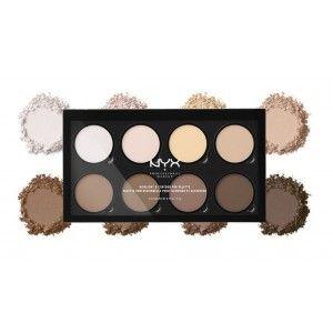 Buy NYX Professional Makeup Highlight & Contour Pro Palette Matte Finish - Nykaa