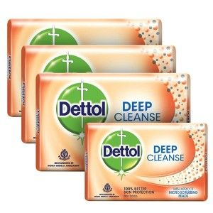 Buy Dettol Deep Cleanse Soap - Pack Of 3 (125gm) + (75gm) Soap Free - Nykaa