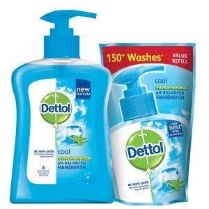 Buy Dettol Cool Liquid Handwash (200 ml0 Cool With Free Liquid Handwash (175 ml) - Nykaa