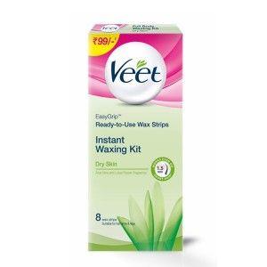 Buy Veet Full Body Waxing Kit for Dry Skin - 8 Strips - Nykaa