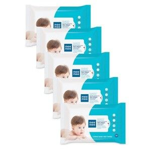 Buy Mee Mee Caring Baby Wet Wipes with Aloe Vera - (30 pcs) (Pack of 5) - Nykaa