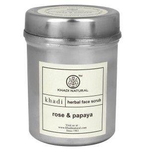 Buy Khadi Natural Face Scrub Rose & Papaya  - Nykaa