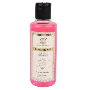 Buy Khadi Natural Rose & Honey Bath Refershing Body Wash - Nykaa