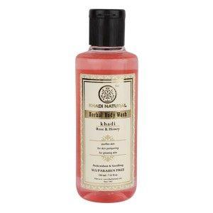 Buy Khadi Natural Rose And Honey Antioxidant & Soothing Body Wash - Nykaa