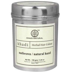 Buy Khadi Natural Nut Brown Henna - Natural Hazel - Nykaa