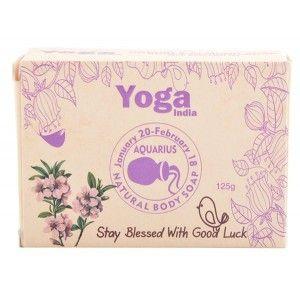 Buy Yoga India Pure Essential Oil Natural Body Sun Sign Soap - Aquarius - Nykaa