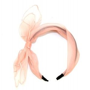 Buy The Blur Store - Sheer Pink Bow Hairband - Nykaa