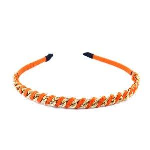 Buy The Blur Store Orange Cord Metal Chain Hair Band - Nykaa