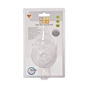 Buy Mee Mee MM-1855 (L) Baby Large Size Pro-Flow Technology Silicone Teat - White - Nykaa