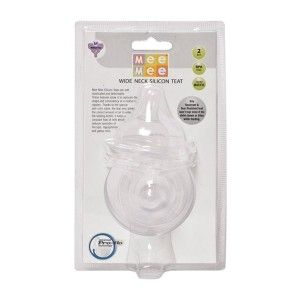 Buy Mee Mee MM-1855 (M) Baby Medium Size Pro-Flow Technology Silicone Teat - White - Nykaa