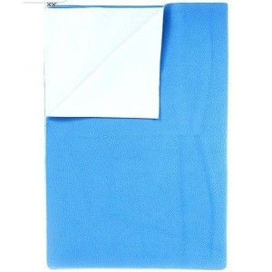 Buy Mee Mee'S Baby Total Dry & Breathable Mattress Protector Mat - Blue (L) - Nykaa