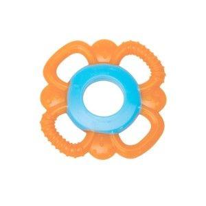 Buy Mee Mee'S Baby Multi-Textured Silicone Teether - Orange, Blue - Nykaa