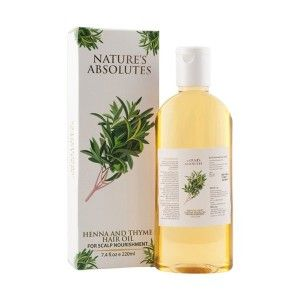 Buy Nature's Absolutes Henna & Thyme Hair Oil - Nykaa