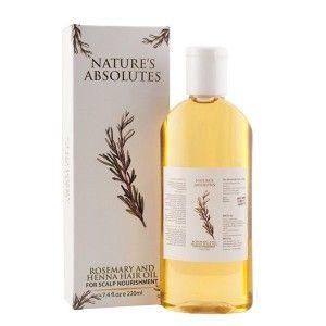 Buy Nature's Absolutes Rosemary & Henna Hair Oil - Nykaa