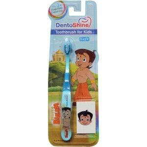 Buy DentoShine Chhota Bheem Comfort Grip Toothbrush For Kids - Blue - Nykaa
