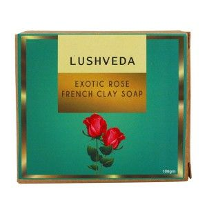 Buy Lushveda Exotic Rose French Clay Soap - Nykaa