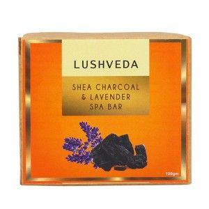 Buy Lushveda Shea Charcoal & Lavender Spa Bar - Nykaa