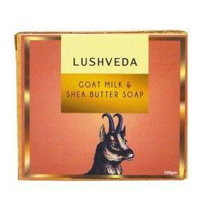 Buy Lushveda Goat Milk & Shea Butter Soap - Nykaa