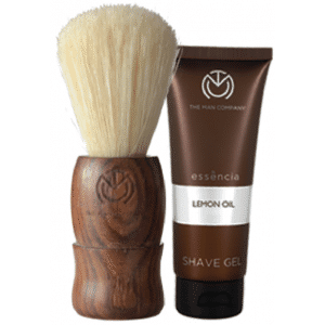 Buy The Man Company Natural Brown Shaving Brush With A Free Lemon Oil Shave Gel (25ml) worth INR 149/- - Nykaa