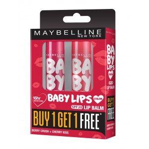Buy Maybelline New York Baby Lips Buy 1 Get 1 Free - Berry Crush + Cherry Kiss - Nykaa