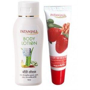 Buy Patanjali Strawberry Lip Balm + Body Lotion - Nykaa