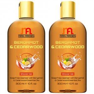 Buy Man Arden Bergamot & Cedarwood Shower Gel(Pack of 2) - Nykaa