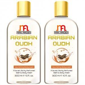 Buy Man Arden Arabian Oudh Moisturizing Shower Gel (Pack of 2) - Nykaa