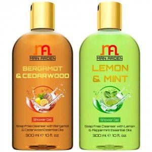 Buy Man Arden Bergamot & Cedarwood + Lemon & Mint Shower Gel - Nykaa