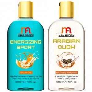 Buy Man Arden Energizing Sport + Arabian Oudh Shower Gel - Nykaa