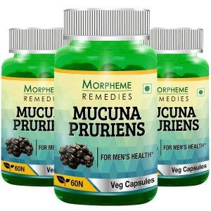 Buy Morpheme Mucuna Pruriens (Kapikachhu) 500mg Extract - 60 Veg Caps (3 Bottles) - Nykaa